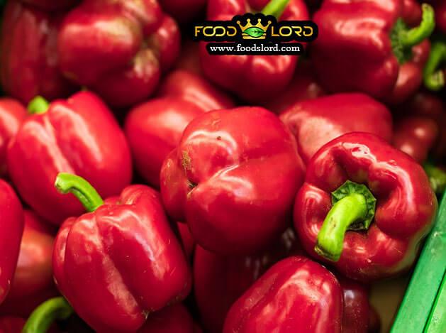 foodslord.com- fresh -فلفل دلمه ای قرمز